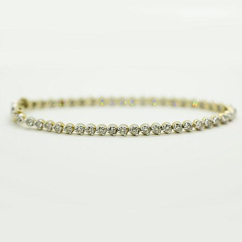 "GGJ's 3ctw Diamond Bracelet 7"""