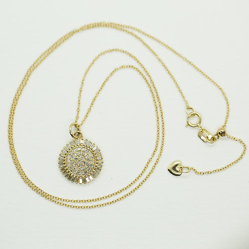 Diamond Sundial Necklace - SOLD OUT