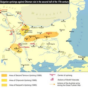 The Bulgarian uprisings of the late 17th century