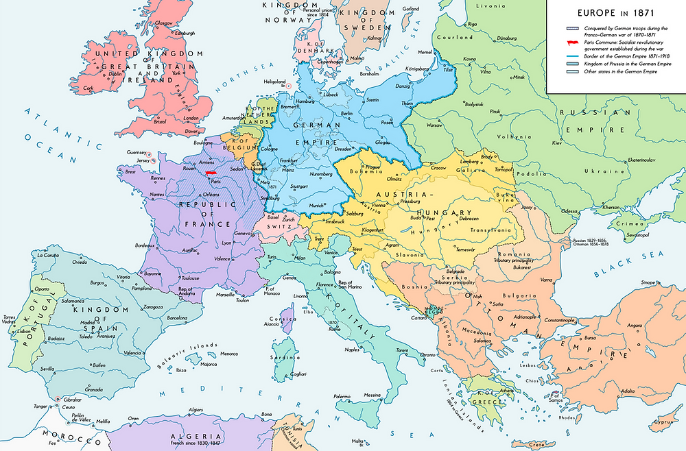 Europe following the Franco-Prussian War