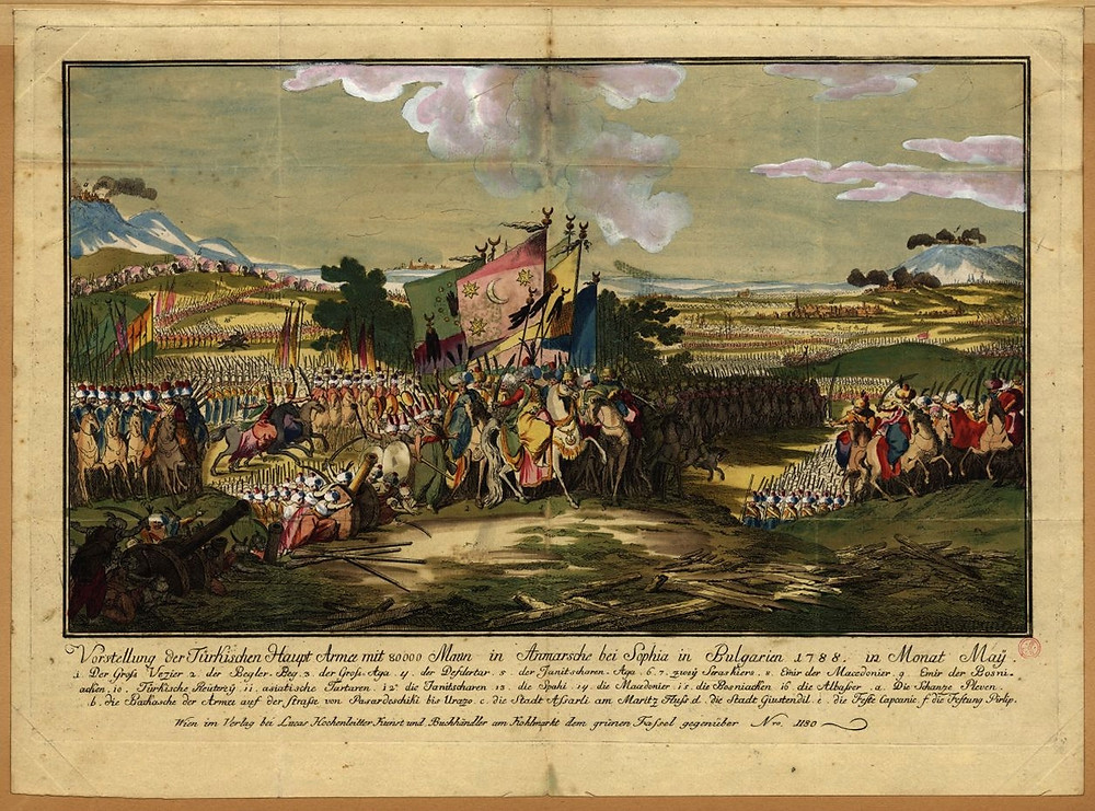 The Ottoman Army leaving Sofia in 1788