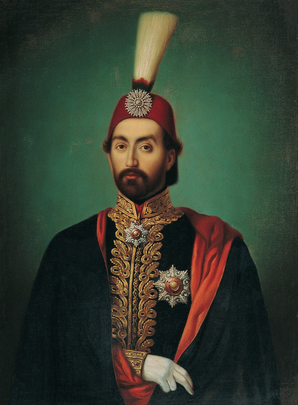 The young Sultan Abdülmecid I