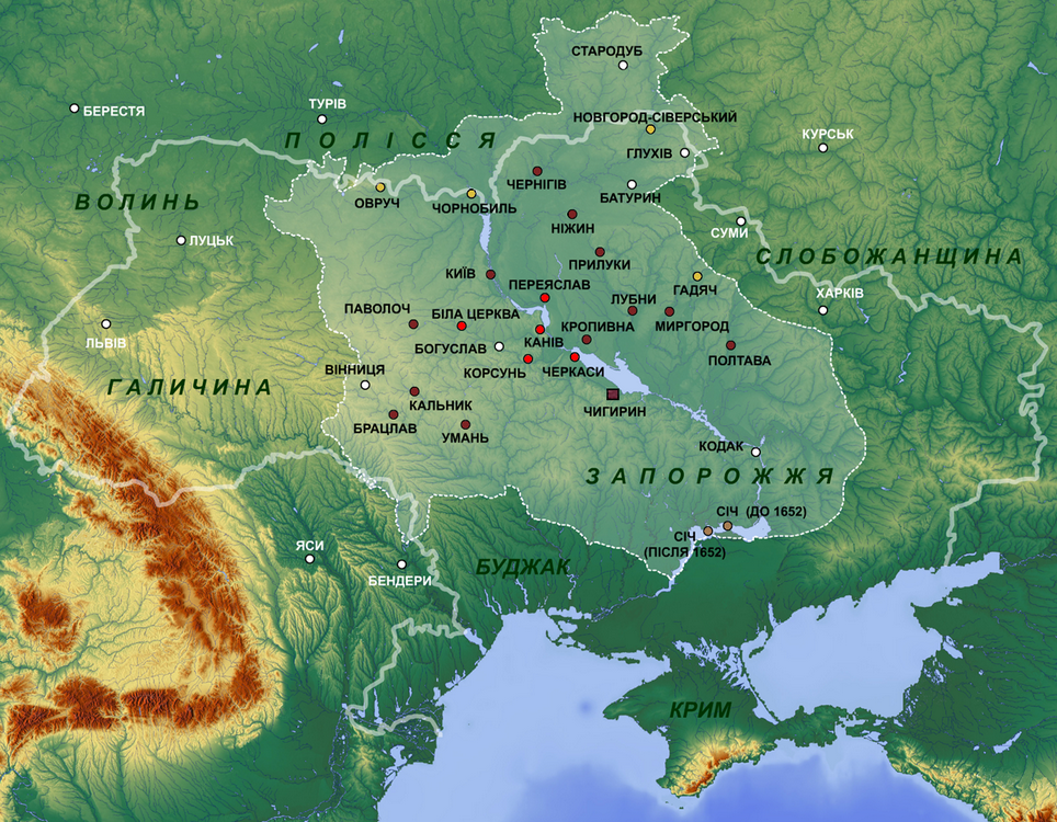 The rough borders of the new Cossack state