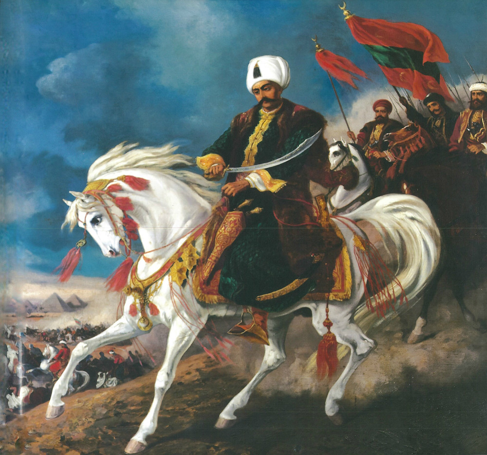 Ottoman Sultan Selim I on campaign against the Mamluks in Egypt