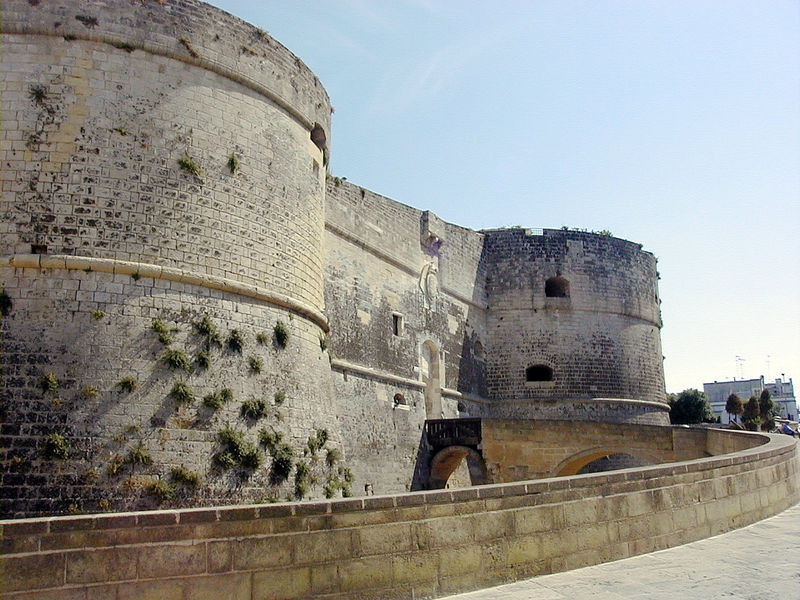 The walls of the Italian City of Otranto.