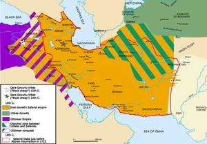The territorial results of the Ottoman-Safavid War