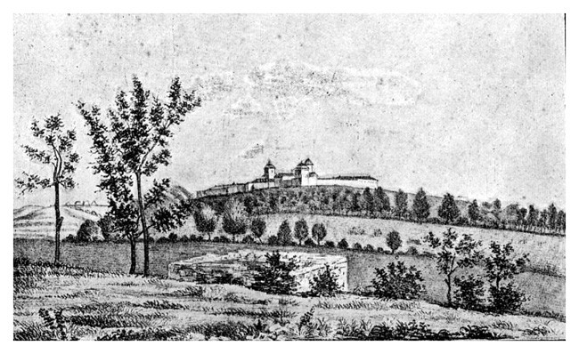 An 1860 engraving pf the Cotroceni Monastery in Bucharest