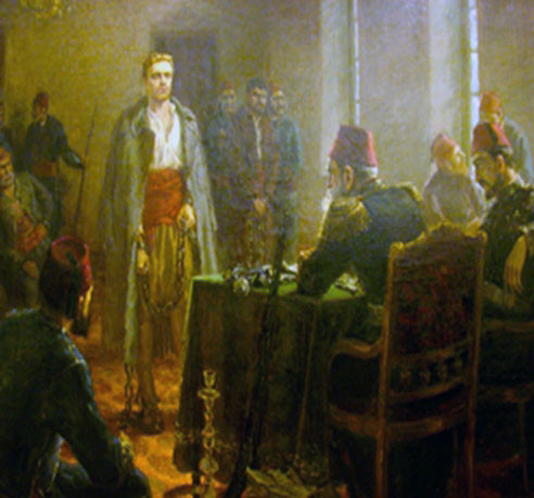 A painting depicting Levski's trail