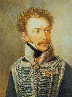 The Greek revolutionary leader Alexander Ypsilantis