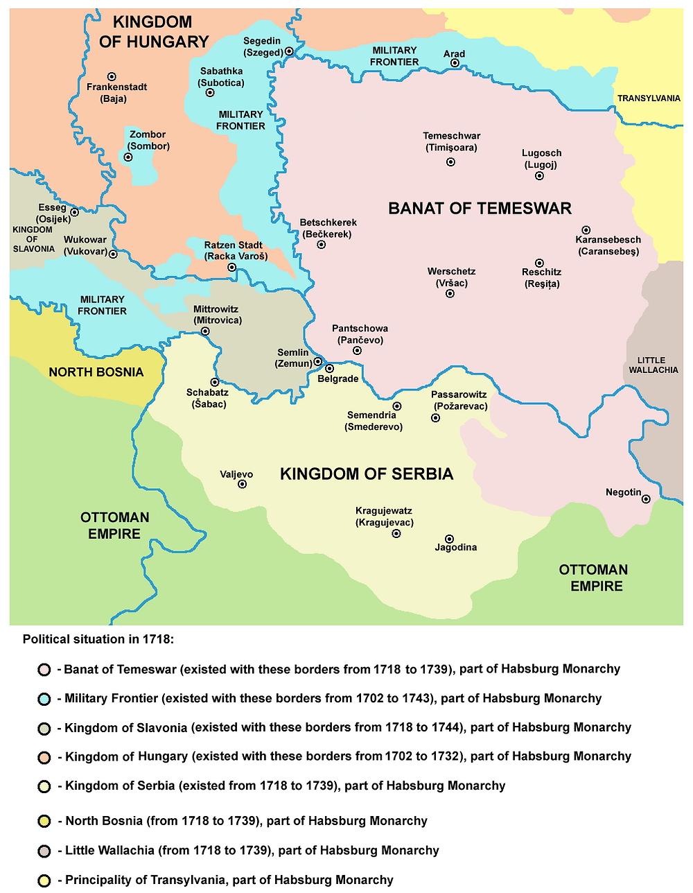 The region before the Treaty of Belgrade