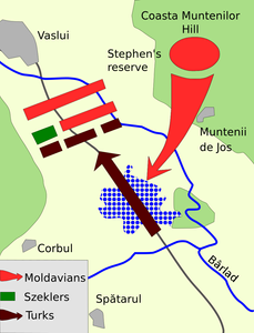 A map of the Battle of Vaslui