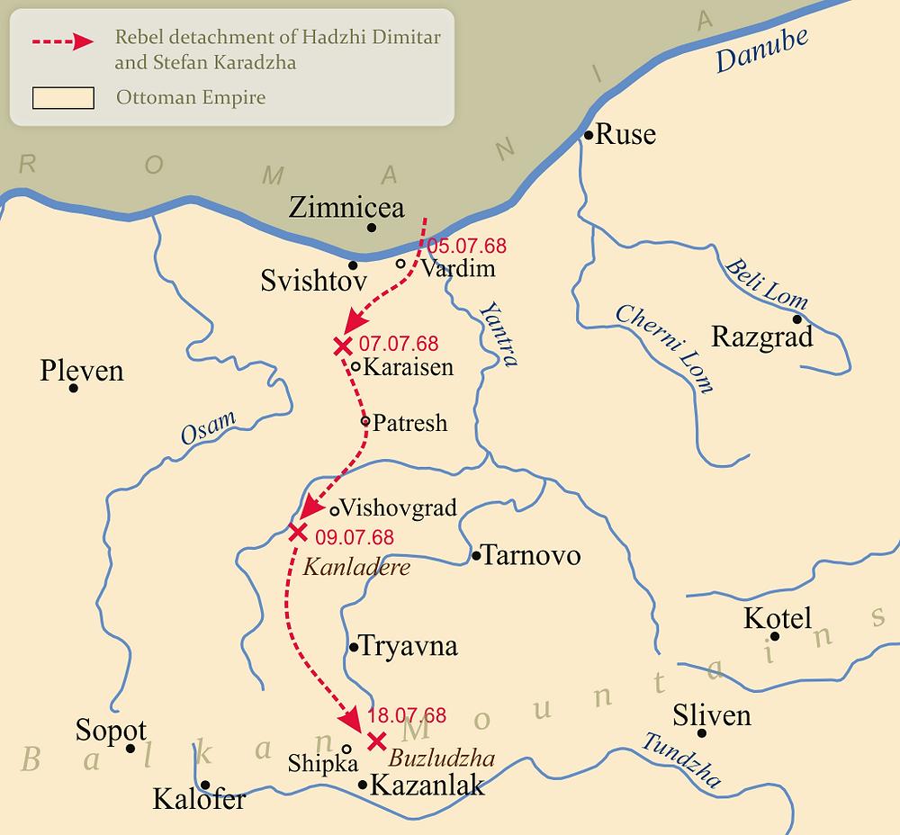 The path of the Cheta detatchment