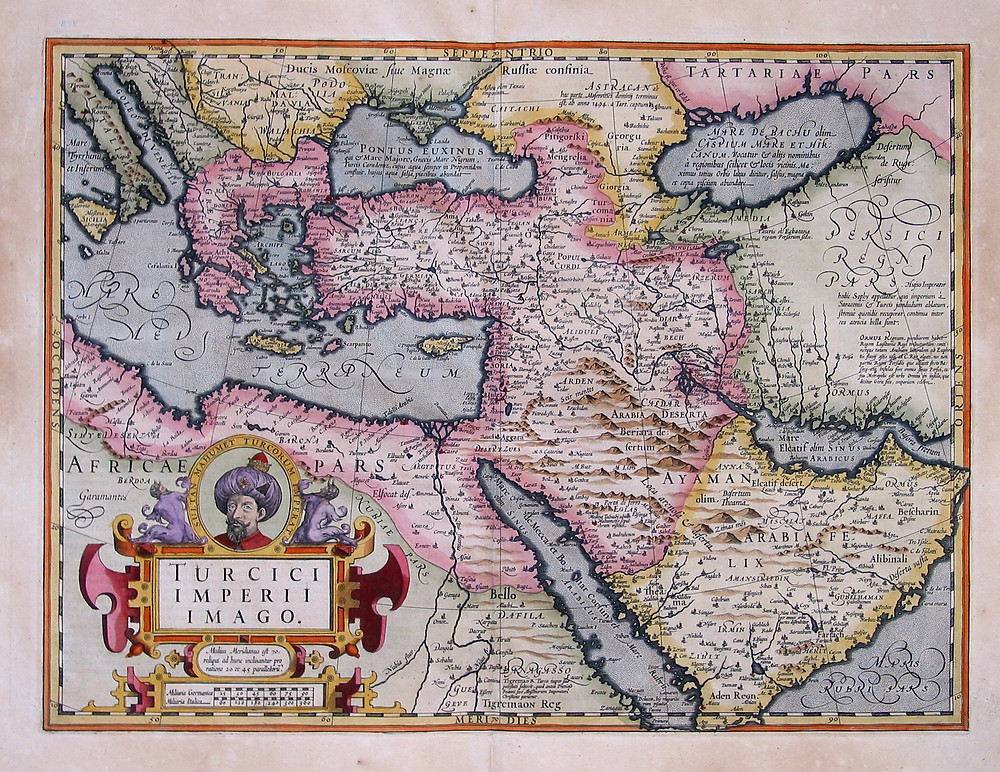 A map of the Ottoman Empire in 1606