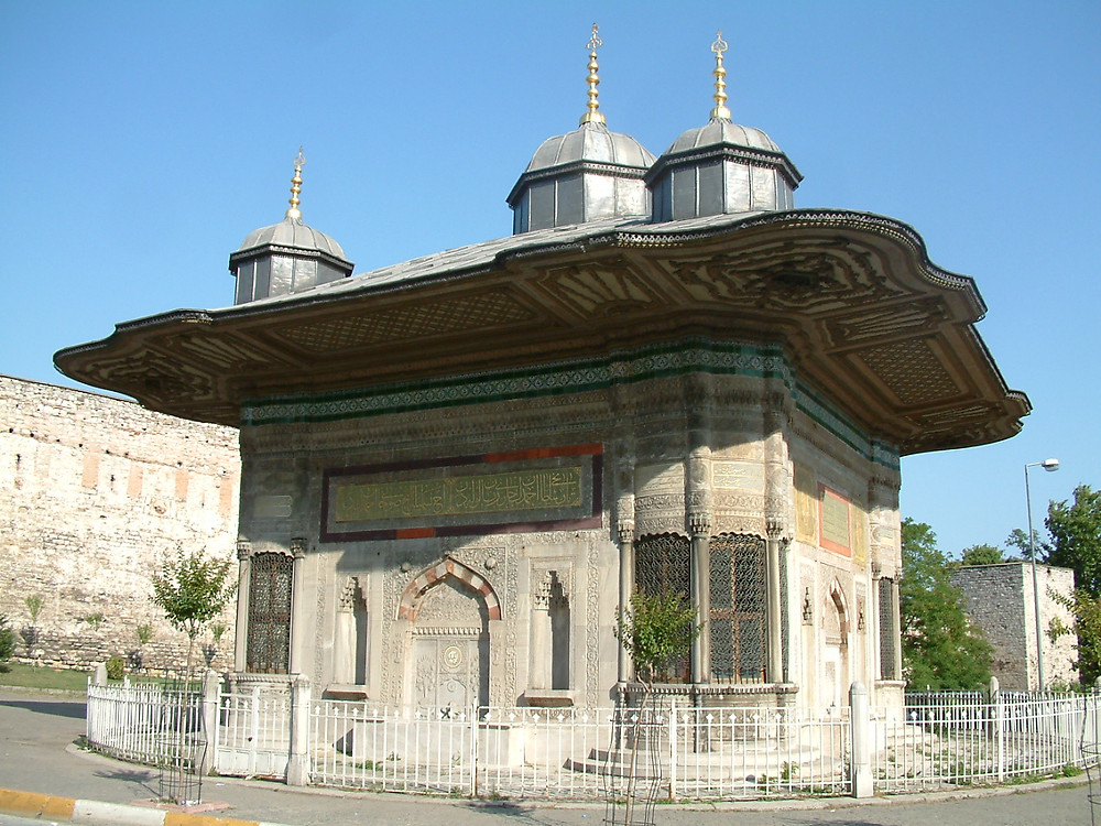 The Fountain of Sultan Ahmed III, a classic example of the architecture of the Tulip Period