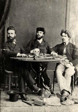 Hristo Botev, Nikola Slavkov, and Ivan Drasov in Romania in 1875