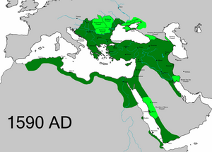 The Ottoman Empire before territorial losses to the Safavids