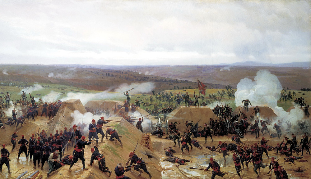 A painting of the Siege of Pleven