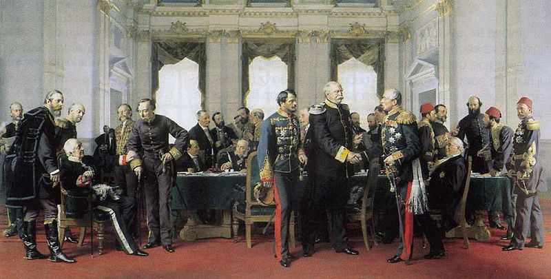 A painting of the Congress of Berlin