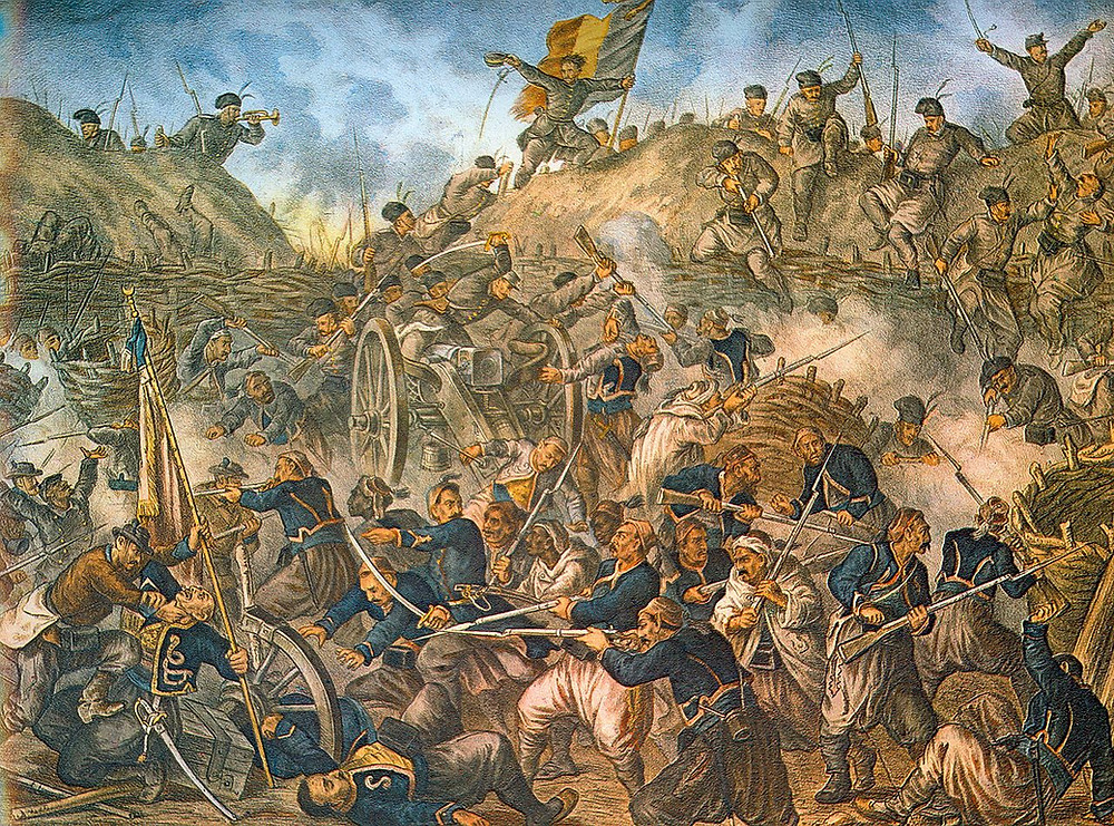 The capture of the Grivitsa redoubt during the Siege of Pleven