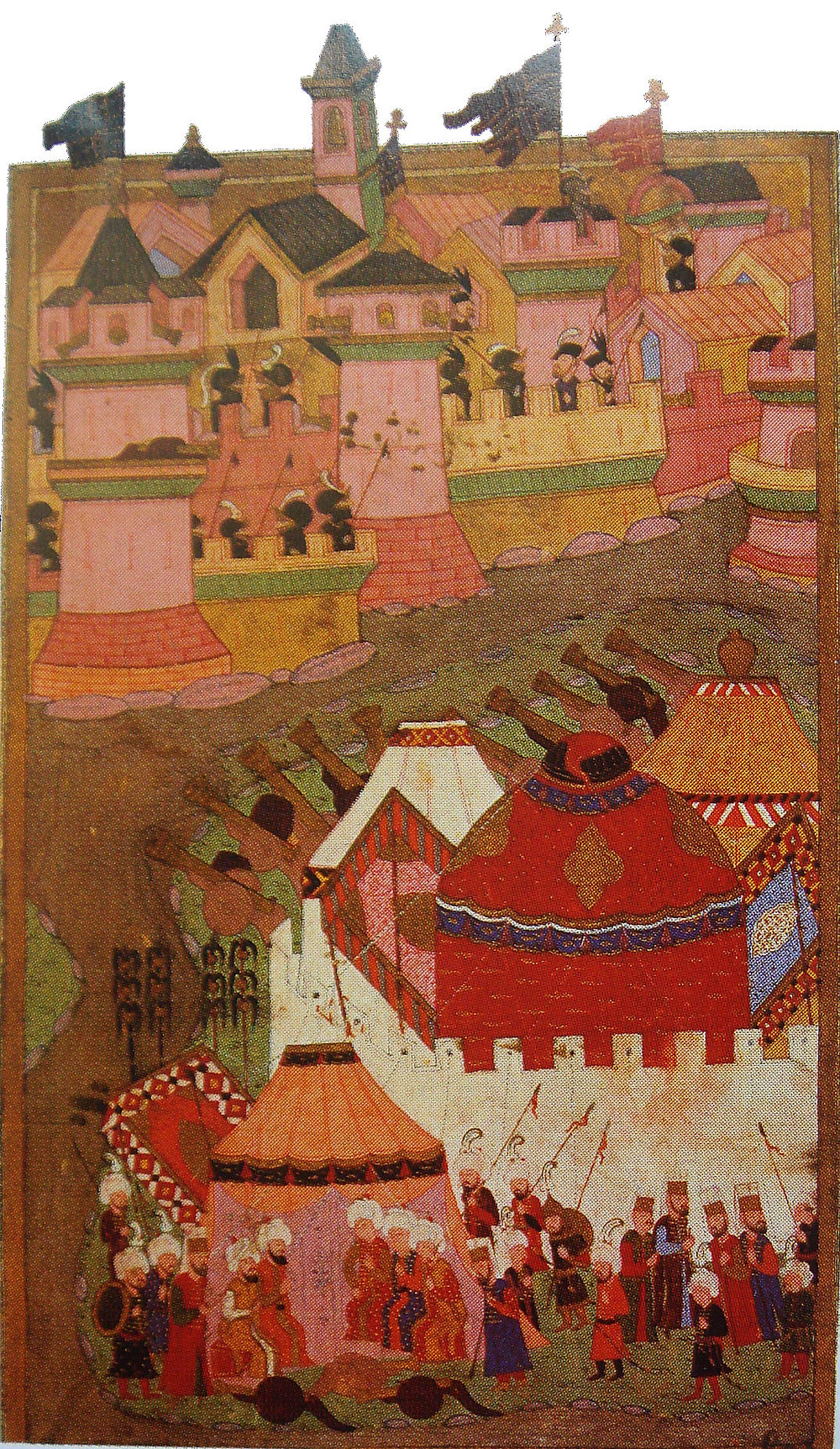 An Ottoman depiction of the 1529 Siege of Vienna