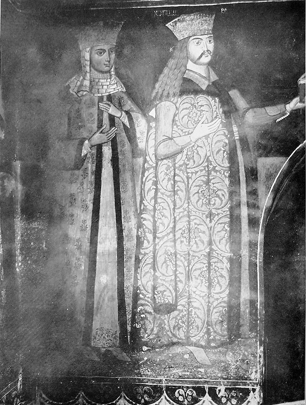Radu the Great of Wallachia with his wife, Catalina Crnojević of Zeta