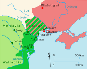Russian territorial gains after the 1792 Treaty of Jassy
