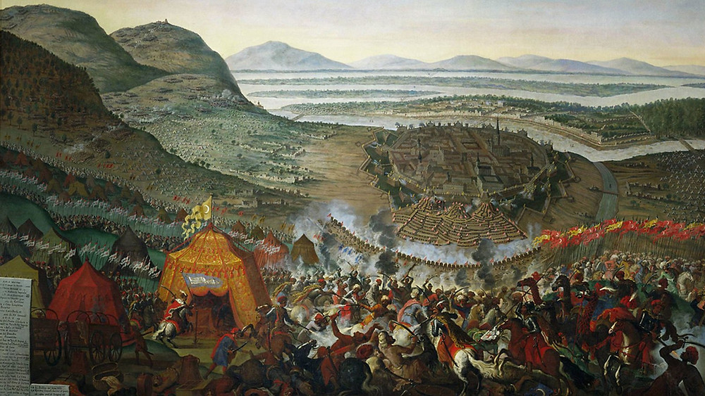 The Ottoman army above the city of Vienna