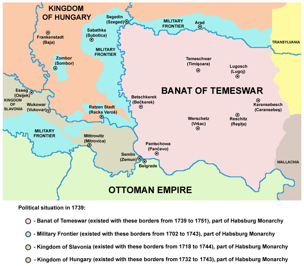 The region after the Treaty of Belgrade