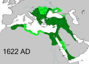 The Ottoman Empire after territorial losses to the Safavids
