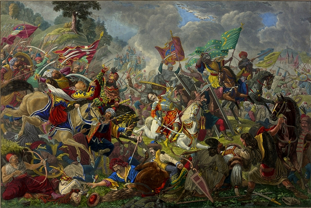 A depiction of the Battle of Breadfield