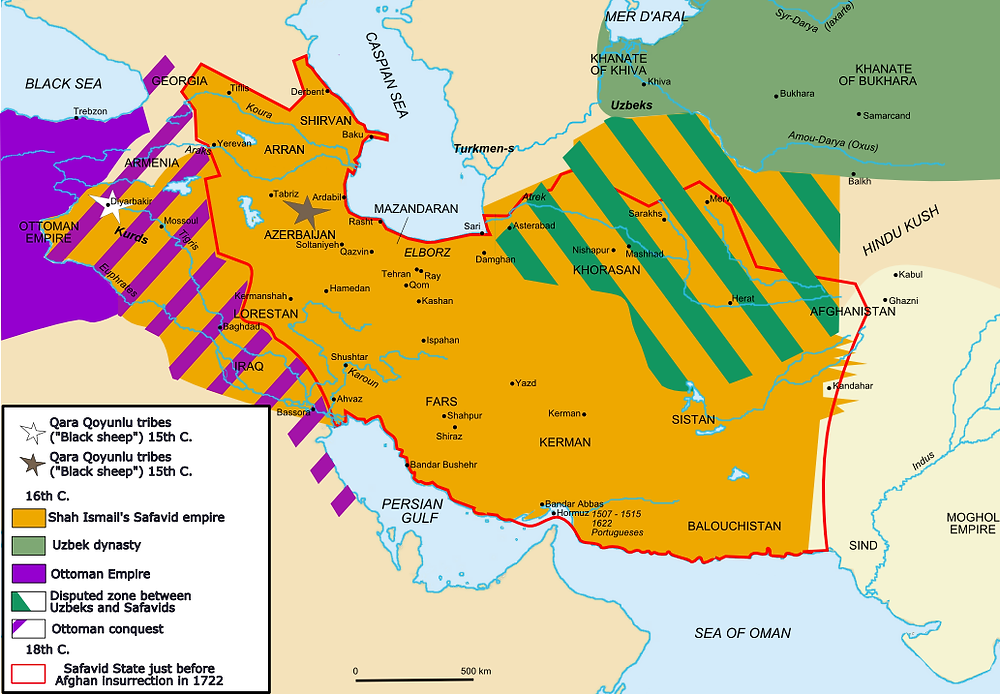 The area of the Ottoman-Safavid border being fought over