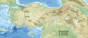 Sultan Murad IV's march to the east to fight the Safavids