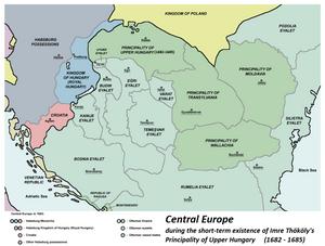 The Austrian-Ottoman borderlands in 1683