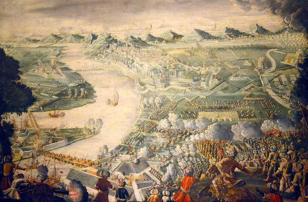 The Austrian attack on Buda