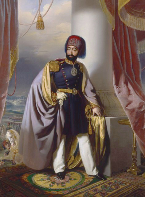 Sultan Mahmud II in his European style dress following clothing reforms