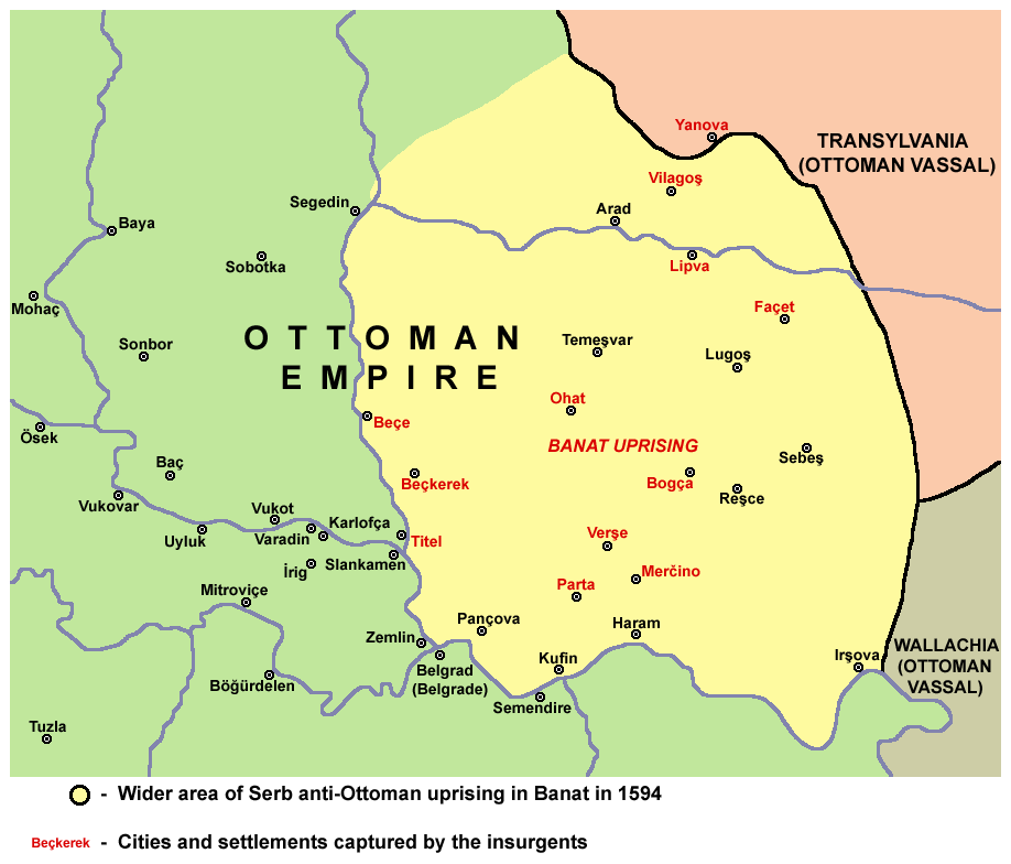 A map of the Banat Uprising