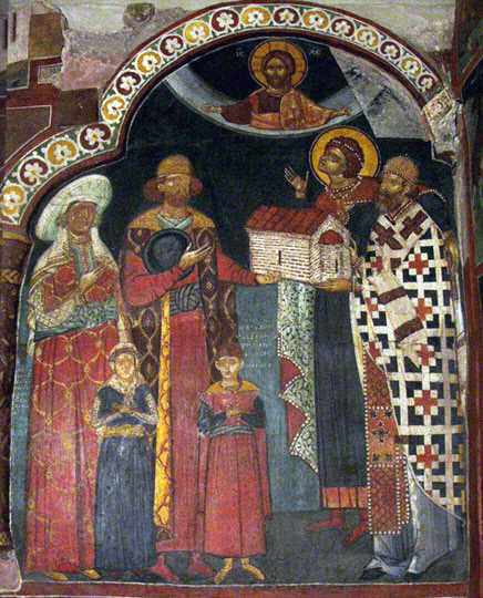 An image of the Boyar who commissioned the church