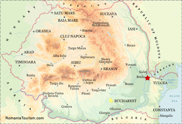 The location of Brailla, where three Bulgarian revolts were organized