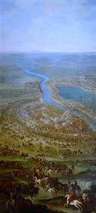The Battle of Zenta which finished the Great Turkish War for the Ottomans