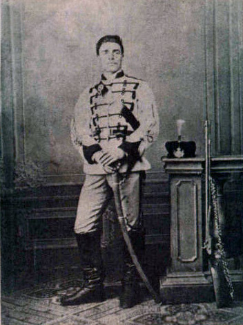 Levski in his First Bulgarian Legion uniform