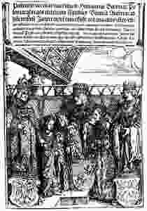 The double wedding between the children and grandchildren of Maximilian and Vladislaus