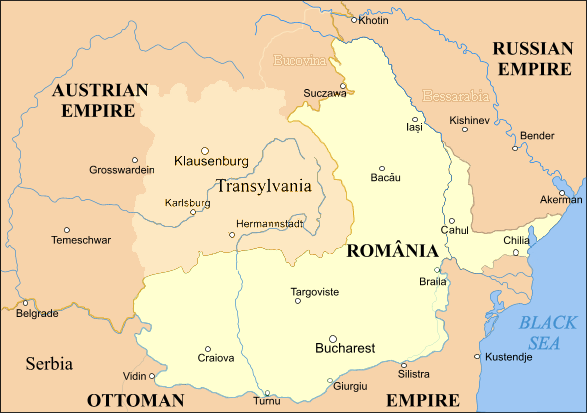 The territory of unified Romania