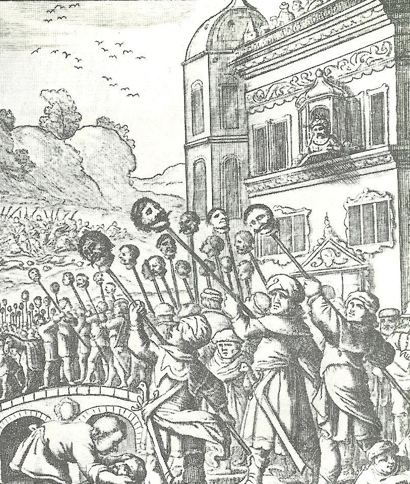 The bloody reprisals against Ottomans after the recapture of Tabriz by the Safavids