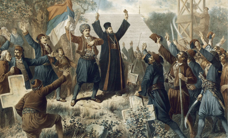 The proclamation of the Second Serbian Uprising