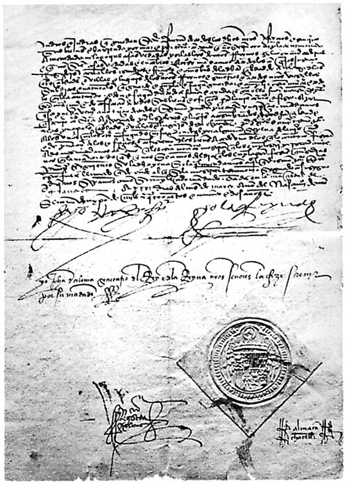 The Alhambra decree expelling Jews from Spain