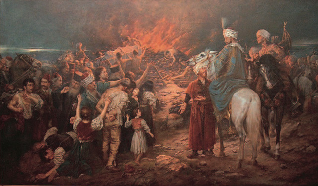 The burning of the remains of St. Sava