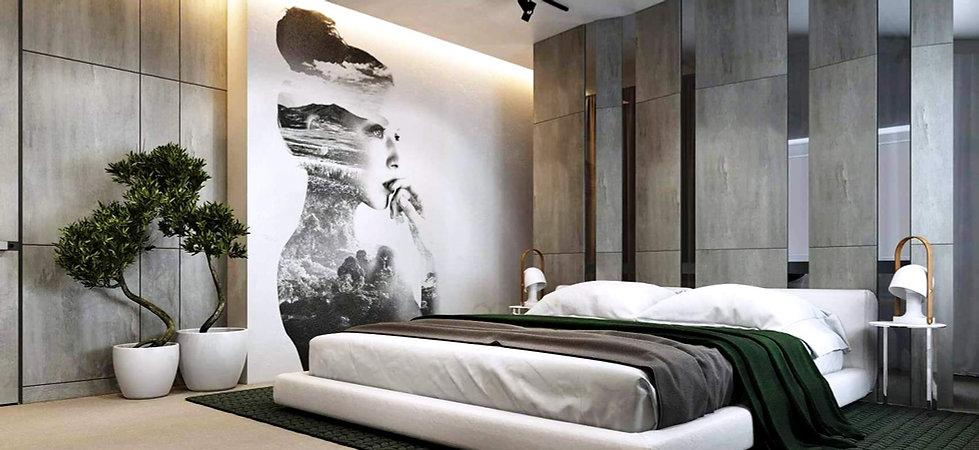 INTERIOR DESIGN BEDROOM WALL PANELS