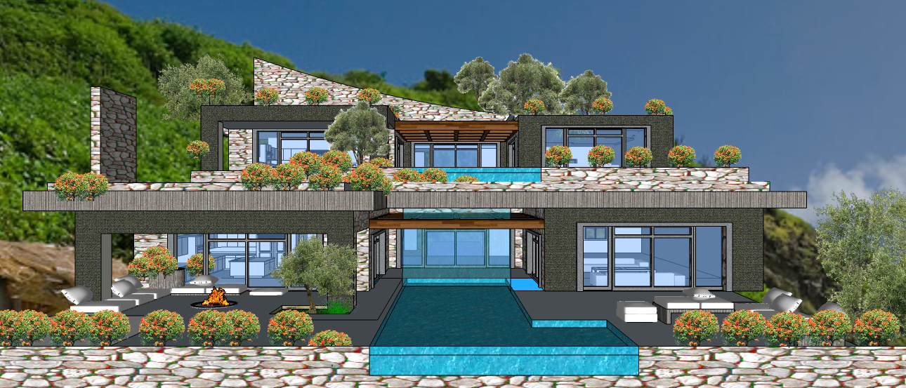 Mykonos  2 LEVEL VILLA VER 1B