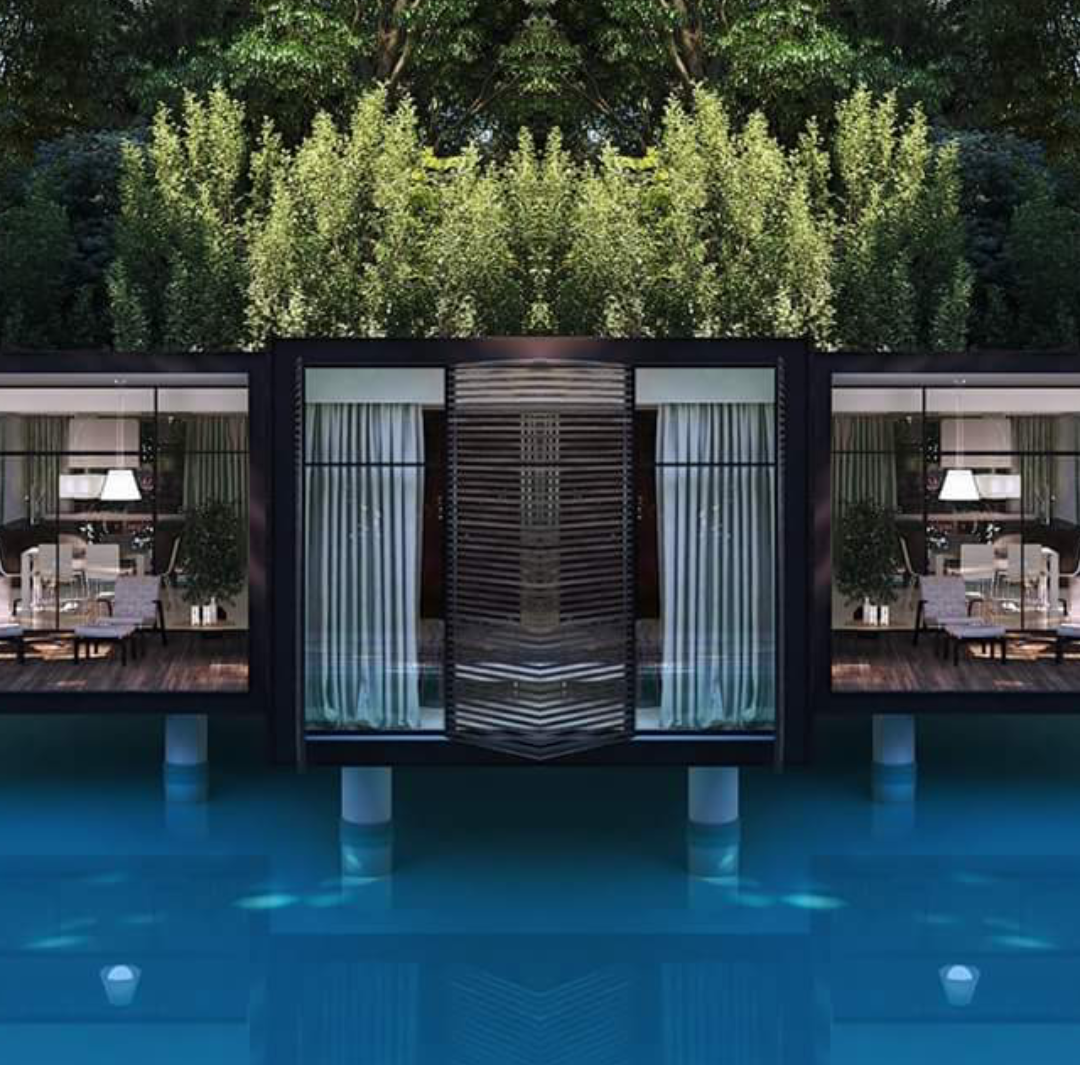 FLOATING POOL PREFAB CONTAINER HOMES (25