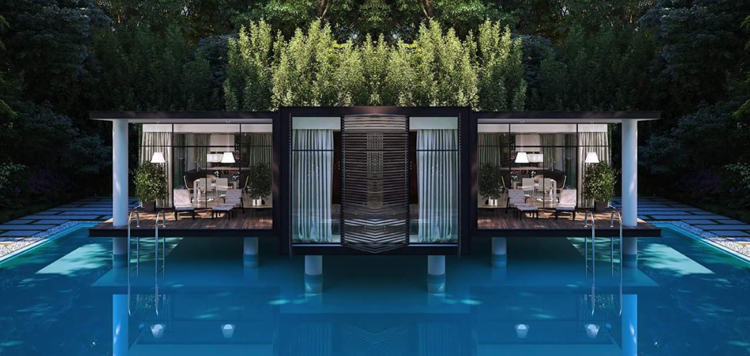 FLOATING POOL PREFAB CONTAINER HOMES (9)